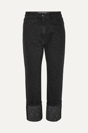 McQ Alexander McQueen Cropped leopard-print straight-leg jeans