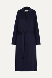 Vitala belted wool-blend coat
