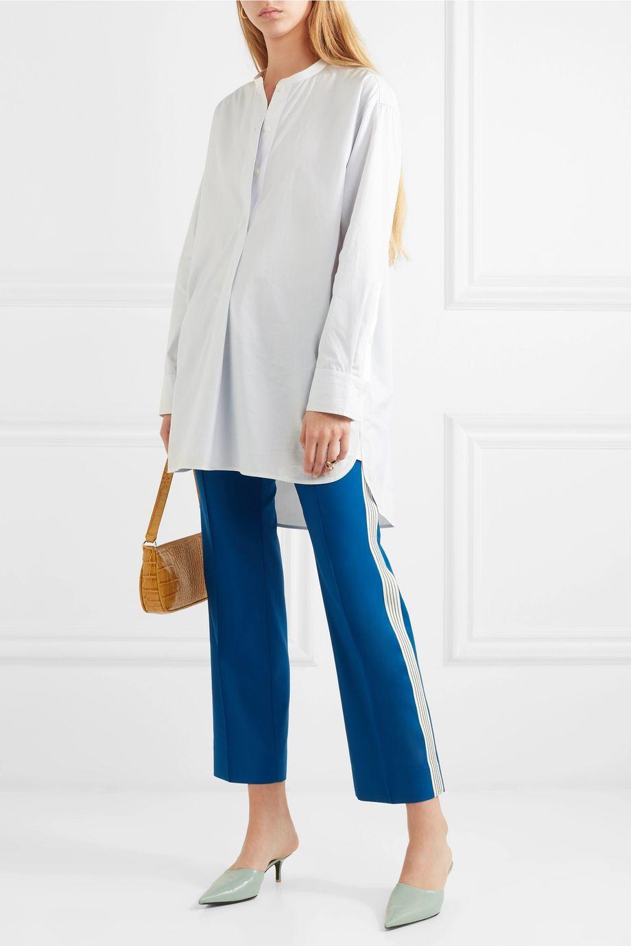By Malene Birger Tilli striped cotton-poplin shirt