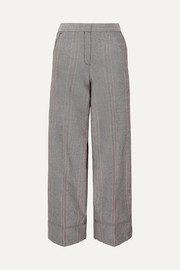 Enilas checked cotton-blend twill wide-leg pants