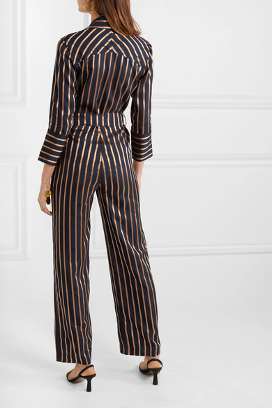2ba63c420742 M.i.h Jeans. Dexy belted striped jacquard jumpsuit. £325. Play