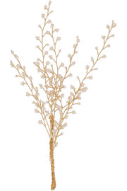 Baby's Breath gold-plated pearl brooch