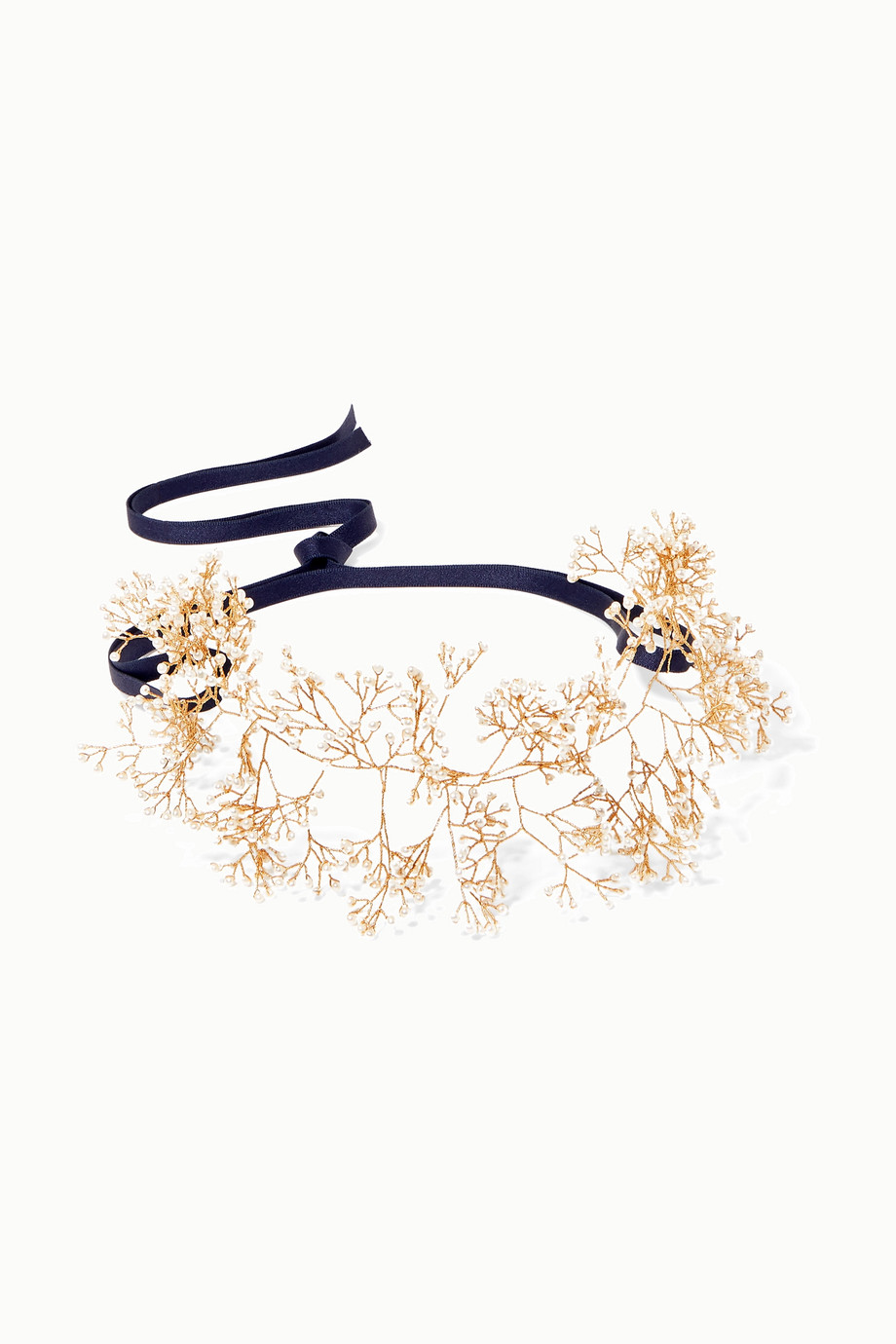 14 / Quatorze Baby's Breath gold-tone pearl headband