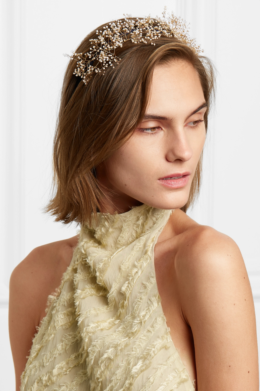14 / Quatorze Baby's Breath gold-tone pearl headband