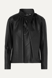 Chay textured leather blouse