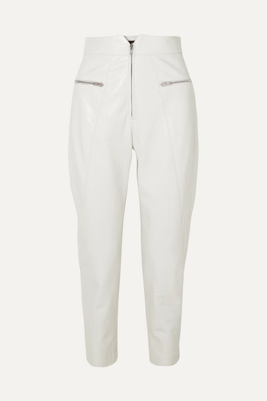 Cyril Leather Tapered Pants by Isabel Marant