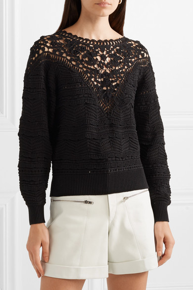 Isabel Marant Knits Camden crocheted cotton sweater
