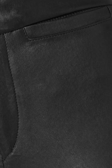 Isabel Marant Pants Mofira cropped leather skinny pants