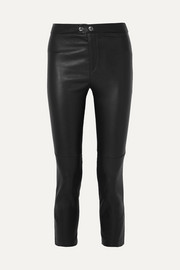 Isabel Marant Mofira cropped leather skinny pants