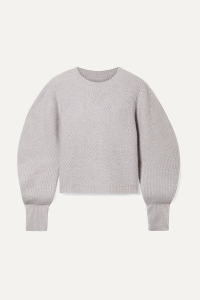 Swinton Ribbed Cashmere Sweater in Gray