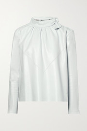 Isabel Marant Chay gathered leather blouse