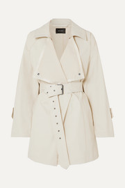 Isabel Marant Jamelo belted cotton-blend gabardine trench coat