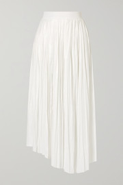 Isabel Marant Dolmen asymmetric pleated satin midi skirt
