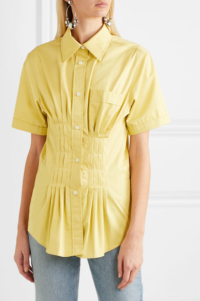 Isabel Marant Shirts Gramy pleated cotton-poplin shirt