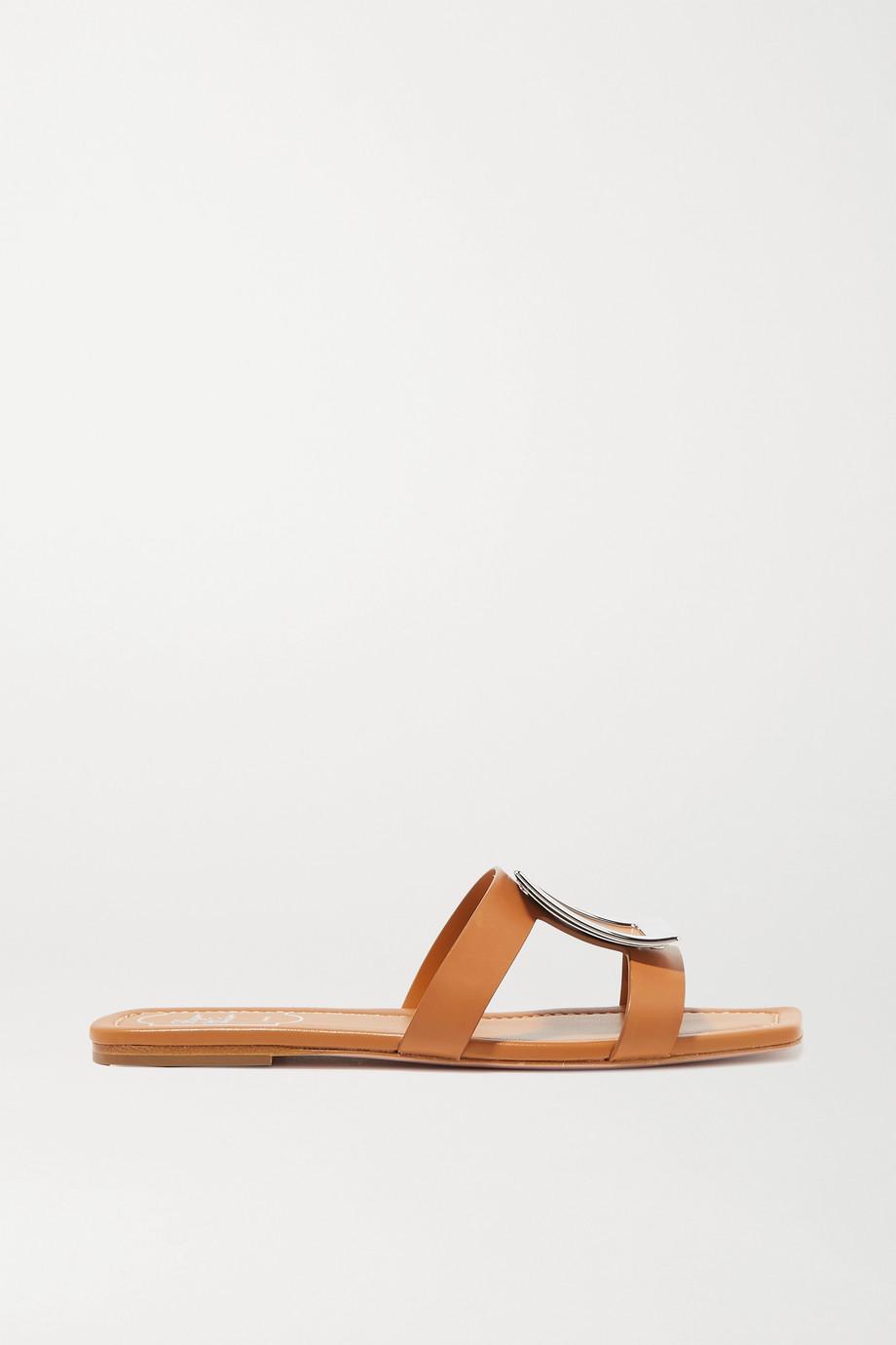 Roger Vivier Bikiviv' embellished leather slides