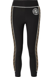 Fendi Roma printed stretch-ponte leggings