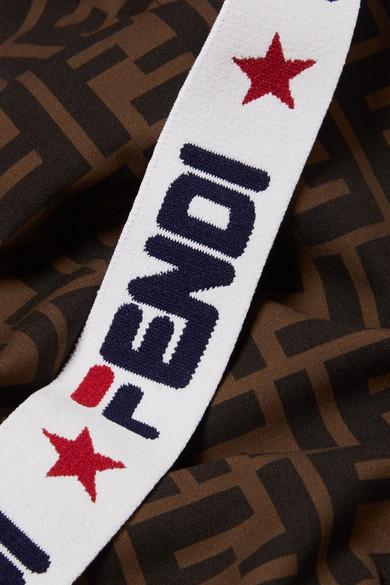 13fda8844b Fendi. Intarsia-trimmed printed swimsuit.  550. Zoom In