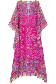 Etro Chubasco asymmetric printed silk-chiffon dress