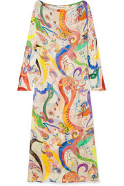 Etro Nashi printed silk-chiffon maxi dress