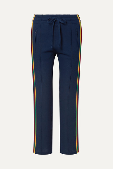 Isabel Marant Étoile - Dobbs Side Stripe Track Pants - Womens - Navy in Midnight Blue