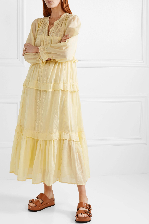 Isabel Marant Étoile Aboni embroidered cotton-voile maxi dress