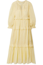Isabel Marant Étoile Aboni embroidered cotton-voile maxi dress
