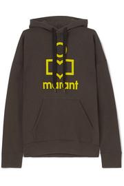 이자벨 마랑 에뚜왈 만셀 후드티 Isabel Marant Etoile Mansel flocked cotton-blend jersey hoodie