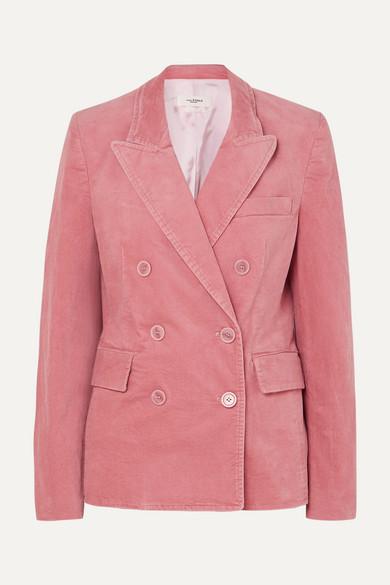 caa5deef5 Alsey double-breasted stretch-cotton velvet blazer