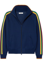 Darcey striped jersey track jacket