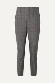 Noah checked cotton-blend slim-leg pants