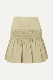Isabel Marant Étoile Oliko smocked cotton-poplin mini skirt