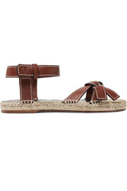 Loewe Gate logo-embossed leather espadrille sandals