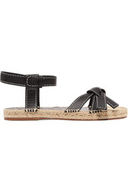 Gate logo-embossed leather espadrille sandals