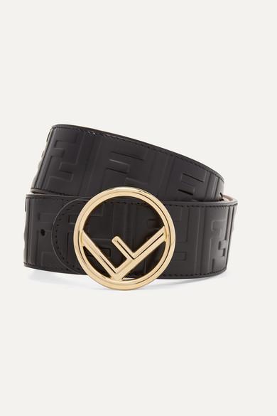 Fendi Belts Embossed leather belt