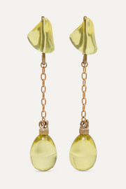 Gold-tone and resin earrings