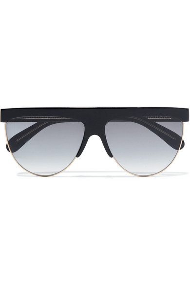 Givenchy Sunglasses D-frame acetate and gold-tone sunglasses