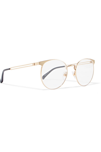 Givenchy Glasses Round-frame gold-tone optical glasses