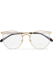 Givenchy Round-frame gold-tone optical glasses