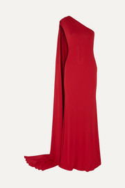 Naeem Khan One-shoulder stretch-jersey gown