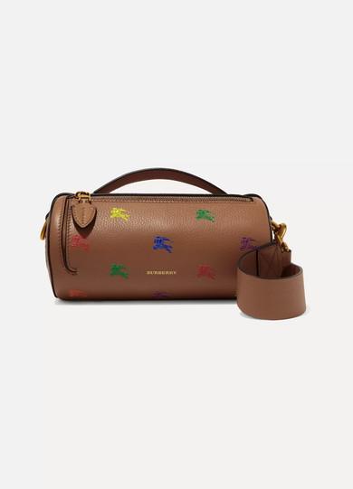 0da7fa4ca5de Burberry. Printed textured-leather shoulder bag