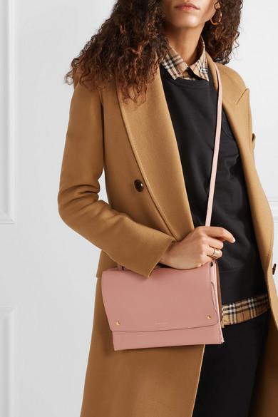 Shop Burberry Textured-Leather Shoulder Bag In Blush 5ff40d23e0