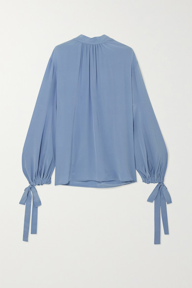 932f6e614e6719 Prada. Gathered silk crepe de chine blouse