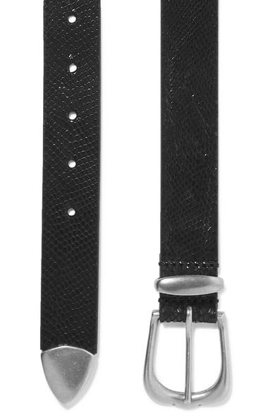 Isabel Marant Belts Kidatt snake-effect leather belt