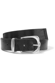 Kidatt snake-effect leather belt