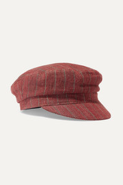 Evie striped linen cap