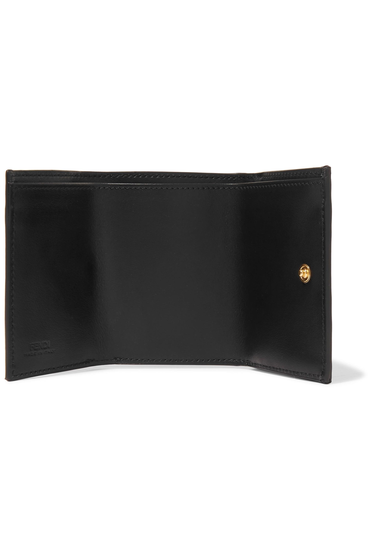 Fendi Embellished embossed leather wallet