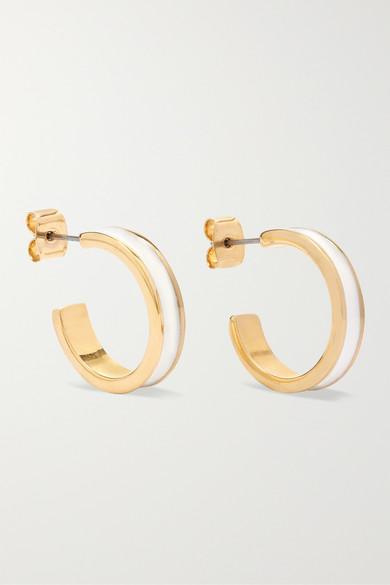 d4678a4a1a Isabel Marant | Gold-tone and enamel hoop earrings | NET-A-PORTER.COM