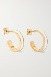 Isabel Marant Gold-tone and enamel hoop earrings
