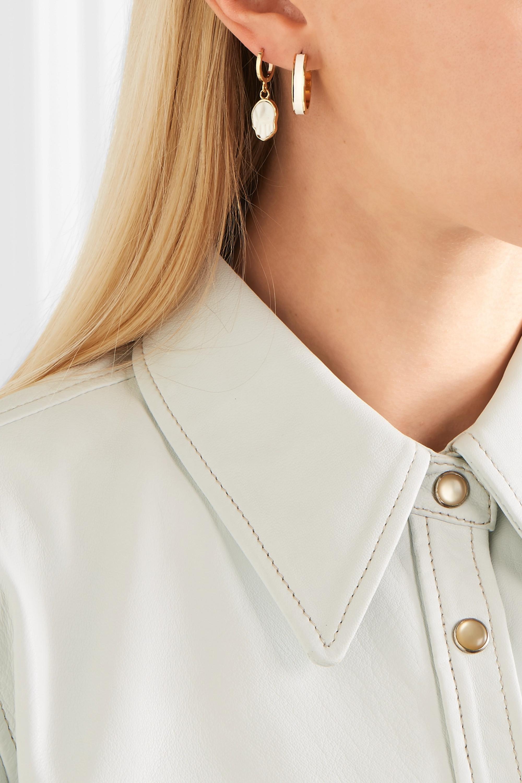 Isabel Marant Gold-tone and enamel hoop earrings
