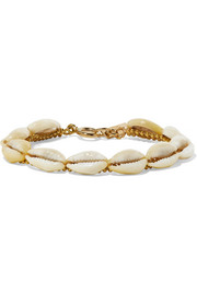 Isabel Marant Gold-tone and shell bracelet